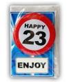 Happy Birthday leeftijd kaart 23 jaar