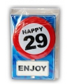 Happy Birthday leeftijd kaart 29 jaar