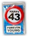 Happy Birthday leeftijd kaart 43 jaar