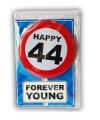 Happy Birthday leeftijd kaart 44 jaar