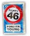 Happy Birthday leeftijd kaart 46 jaar
